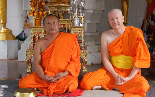 'I value religion, and think secular culture could learn a lot from ancient traditions' says Ben Bowler, pictured right, in Thailand