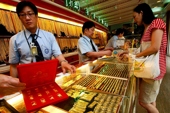 The gold prices were up 100 baht from yesterday's close.