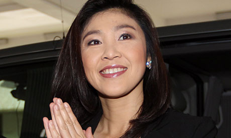 Yingluck said she wishes the Thai people health and wealth