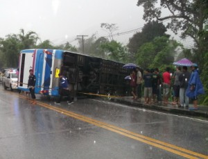 38 people who were injured when a bus travelling from Bangkok to Chumphon