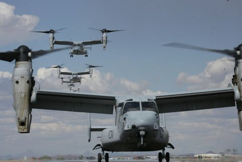 MV-22B Ospreys,this marks the first time the aircraft has appeared in Thailand,