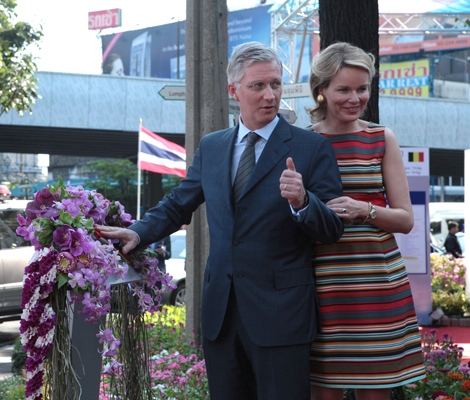 Their Royal Highnesses Prince Phillippe and Princess Mathilde of Belgium