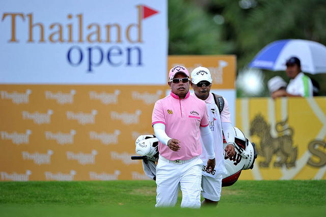 Prayad Marksaeng came from far back to win the $1 million Thailand Open