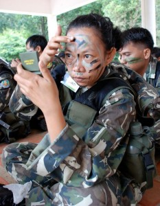 Park Rangers learn Camouflage training