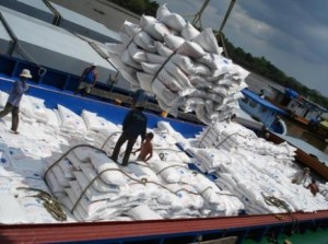 Thai rice exports in 2012 fell 37 percent, according to Thailand's Ministry of Commerce