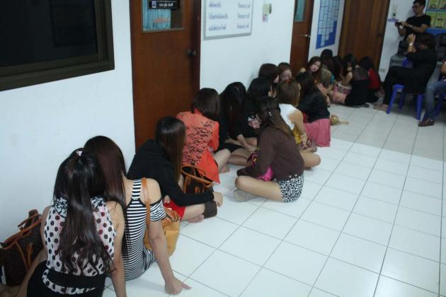 Laotian sexual workers were rescued from a Chon Buri-based karaoke lounge