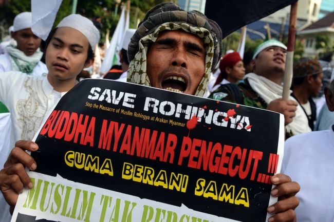 Indonesia radicals rally for 'Myanmar