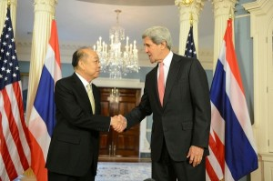 Foreign Minister Surapong Towichakchaikul visited Washington DC and met with new U.S. State Secretary John Kerry in early May