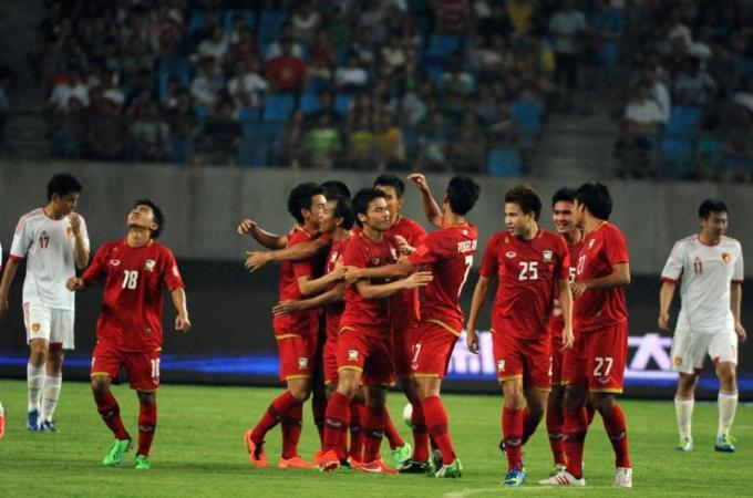 he most populous nation in the world were thrashed 5-1 by a young Thai team