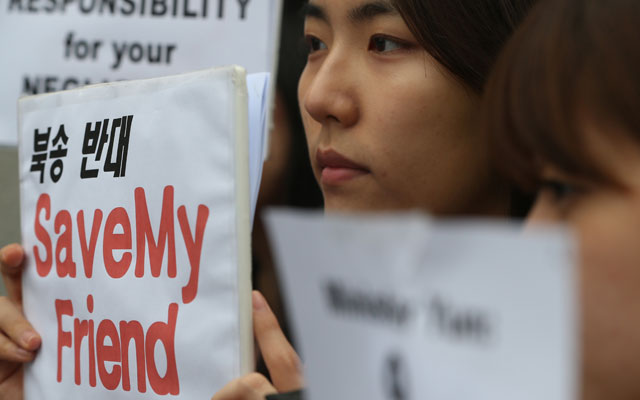 Human rights groups on Thursday demanded that North Korea guarantee the safety of nine of its citizens who reportedly fled to Laos, only to be apprehended and sent back home.