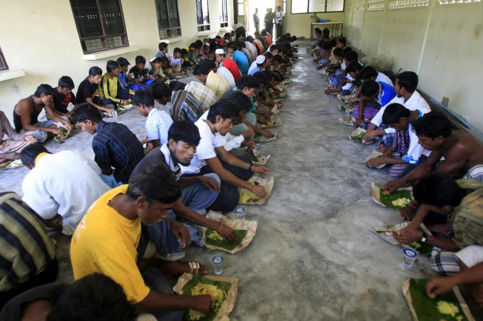 """Crowded conditions at the Thai detention centres were not ideal but authorities were """"trying their best to cope with this influx of people"""""""