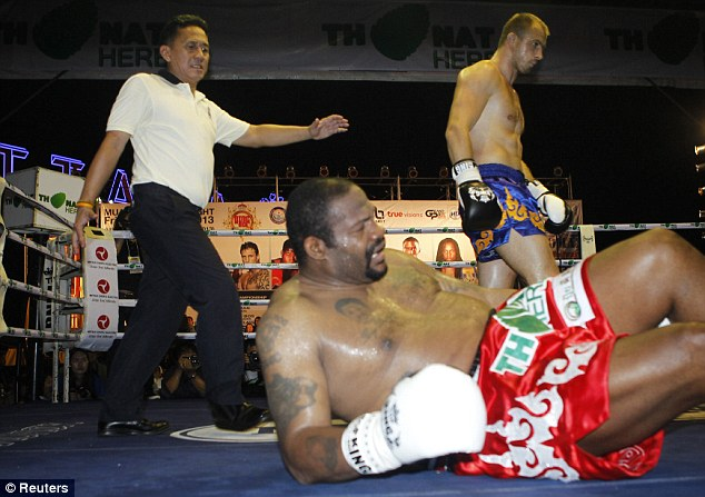 """Slow and out of shape, the fighter known as """"Big Daddy"""" took a big beating from his 30-year-old unheralded Russian opponent Levgen Golovin"""