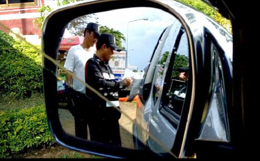 Police checkpoint in tambon Padad of Mae Saruay district of Chiang Rai province