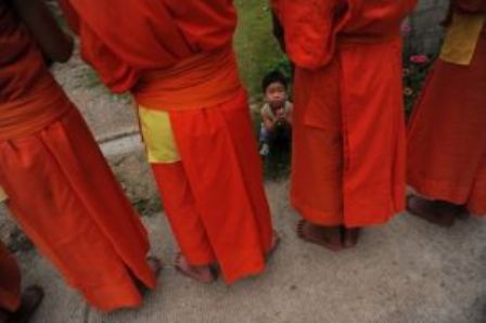 The two monks aged 20 and 23 are alleged to have taken the boy to see the abbot at the temple in Chiang Dao district in the Chiang Mai Province