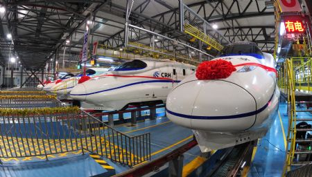 Chinese high- speed trains will arrive from southern China.