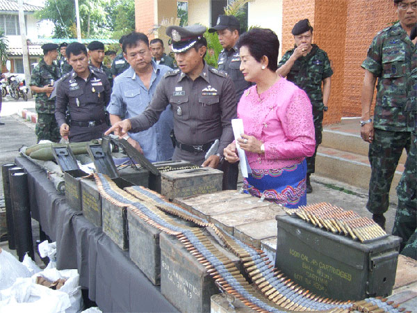 Assorted ammunition seized in Mae Hong Son on Sunday