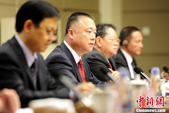 Liu Yuejin, director-general of the Narcotics Control Bureau of the Ministry of Public Security, answers questions at a press briefing held by the Information Office of the State Council on Tuesday.