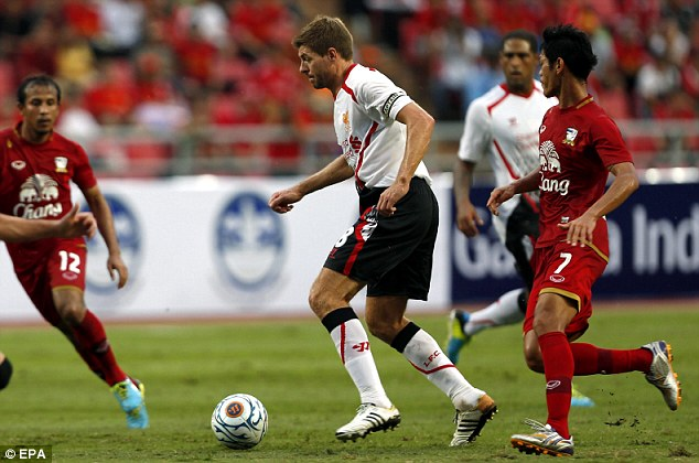 Liverpool strolled to a 3-0 win over Thailand