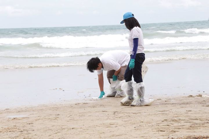 tourists should not swim in Phrao Bay until the volume of petroleum hydrocarbon reduced to a safe level and that the department would regularly check the quality of seawater in the area twice a week until October.