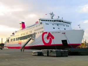 The MV Thomas Aquinas carrying 715 passengers and 116 crew,
