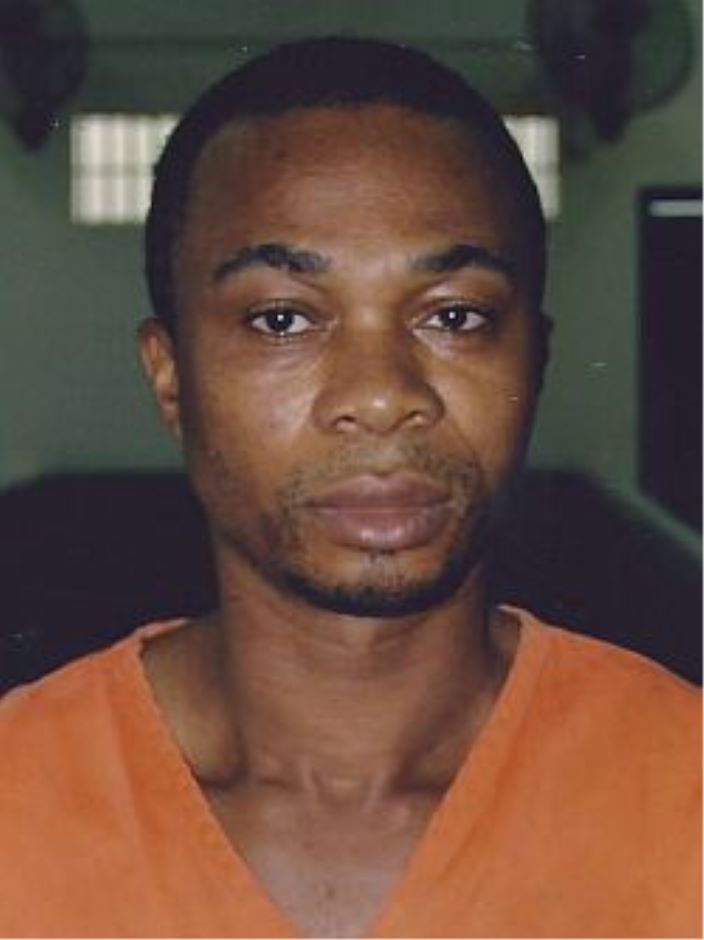 Osuji Kelly Prince, 25, from Nigeria, escaped lock-up aided by a policeman.