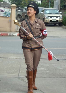 Thai Student Dresses like Hitler at Sports day in Chiang Mai