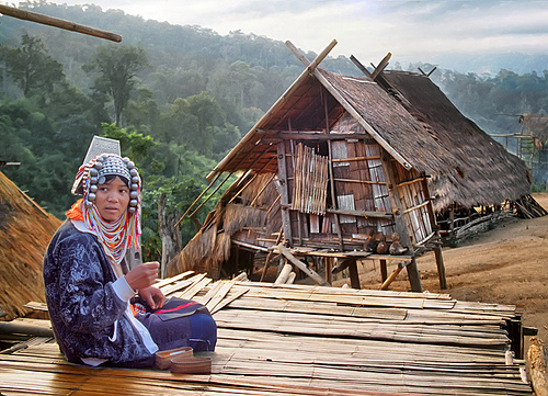 The hill-tribe Akha are comparative newcomers to the region.