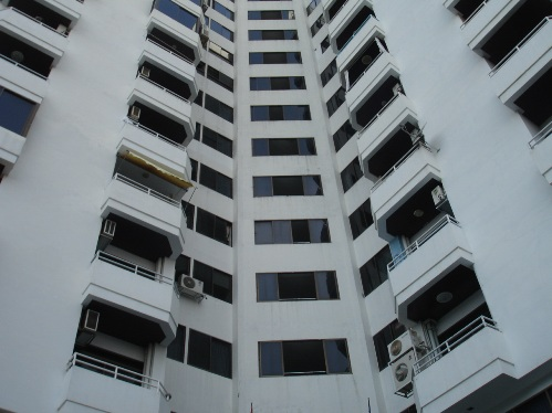 Center Condotel located off the South Pattaya Road. The victim fell onto the car park at the rear of the building