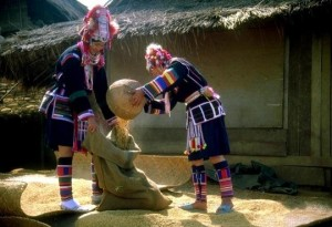The Akha originated in Yunnan in Southern China