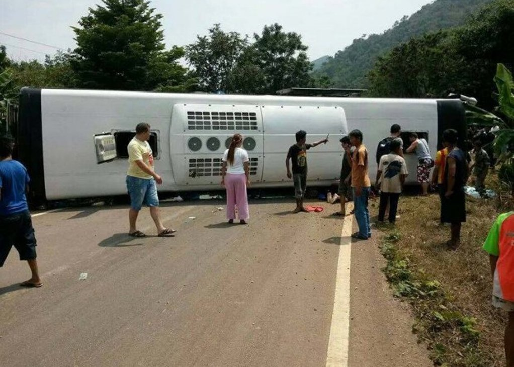 A thai tour bus crash kills Russian Tourist in second accident in month