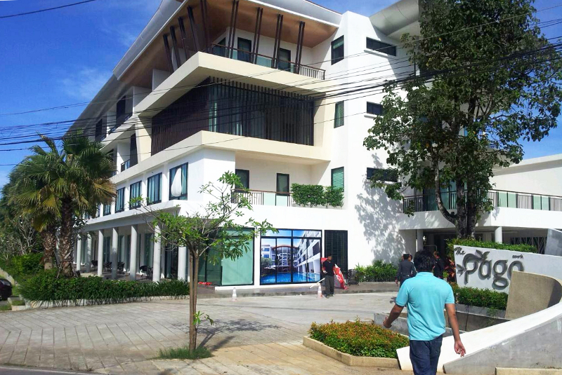 The new Pago Design Hotel, where the Chinese man was apparently murdered and where his wife seemingly jumped to her death. - Photo Phuket News