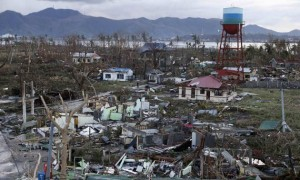 A view of destroyed houses after super Typhoon Haiyan battered Tacloban city in central Philippines November 9, 2013