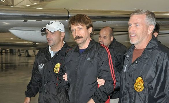 Bout arriving in White Plains, New York in 2010, after being extradited from Thailand