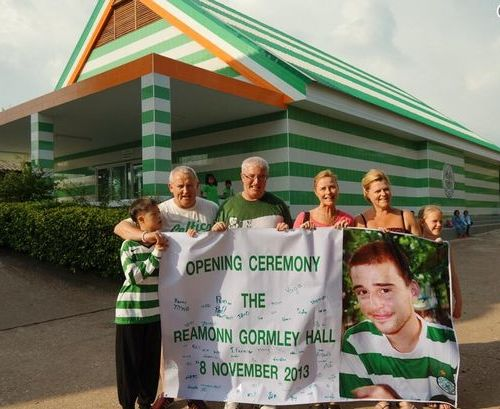JAMES and Ann Gormley were guests of honour at the unveiling of the Reamonn Gormley Memorial Hall in Chanthaburi Province.