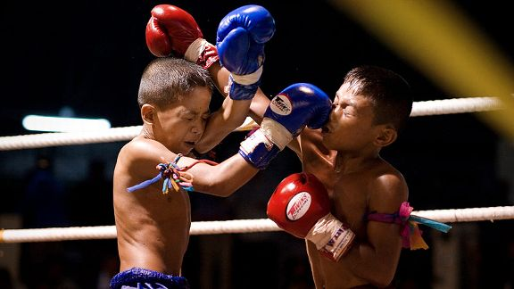 Nicolas Asfouri/Getty ImagesFor many Thai children, muay Thai is a means of escaping a poverty-stricken life.