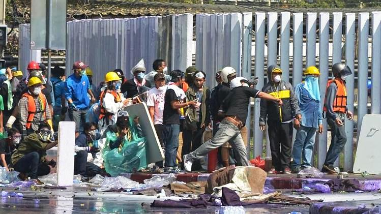 A spokesman for the Bangkok city government's emergency medical unit said the man shot Saturday was in his 30s and had suffered gunshot wounds to his abdomen after a drive-by shooting at one of the main protest sites in the city