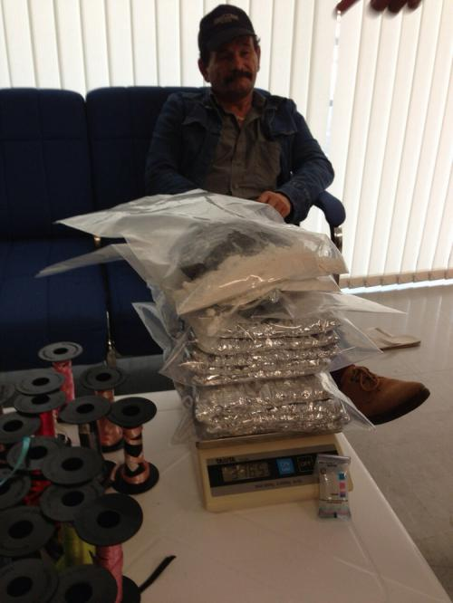 Romanian national Pop Florin was arrested trying to smuggle over 3kg of cocaine into Thailand. Photo: Phuket Airport Customs