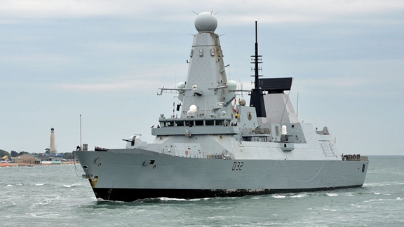 HMS Daring is the lead ship of the Type 45 or Daring-class air-defence destroyers built for the Royal Navy, and the seventh ship to hold that name. She was launched in 2006 on the Clyde and conducted contractor's sea trials during 2007 and 2008