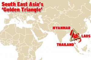 the Golden Triangle in Asia which is responsible for huge quantities of the world's heroin