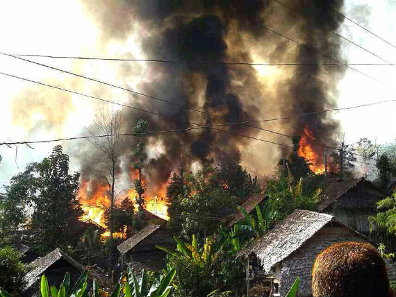 Over 100 homes were destroyed in a fire that blazed through the Mae La refugee camp on Dec. 27. Photo: Suchart Sangphaijit/IRC
