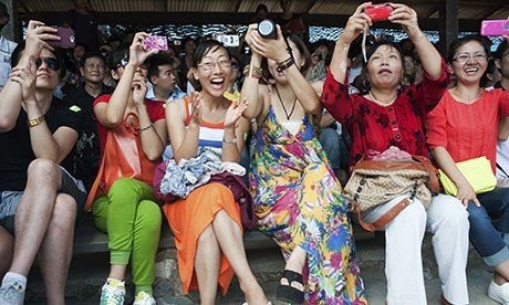 The survey showed 80% of respondents thought Chinese tourists were a nuisance to the community.