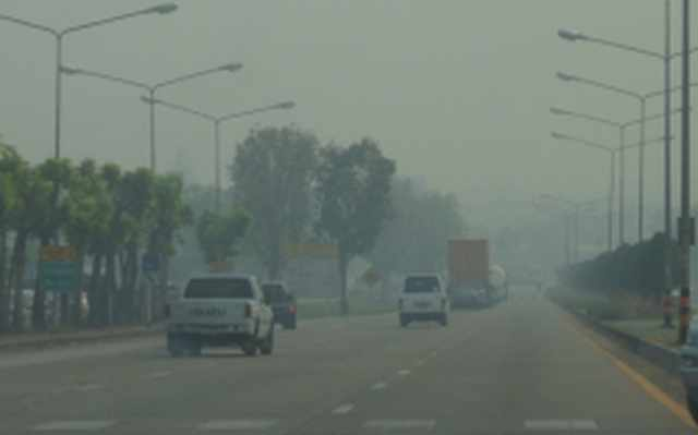 PM10 level reached a new high of 217 micrograms per cubic meters on Thursday in Chiang Rai's Mae Sai district