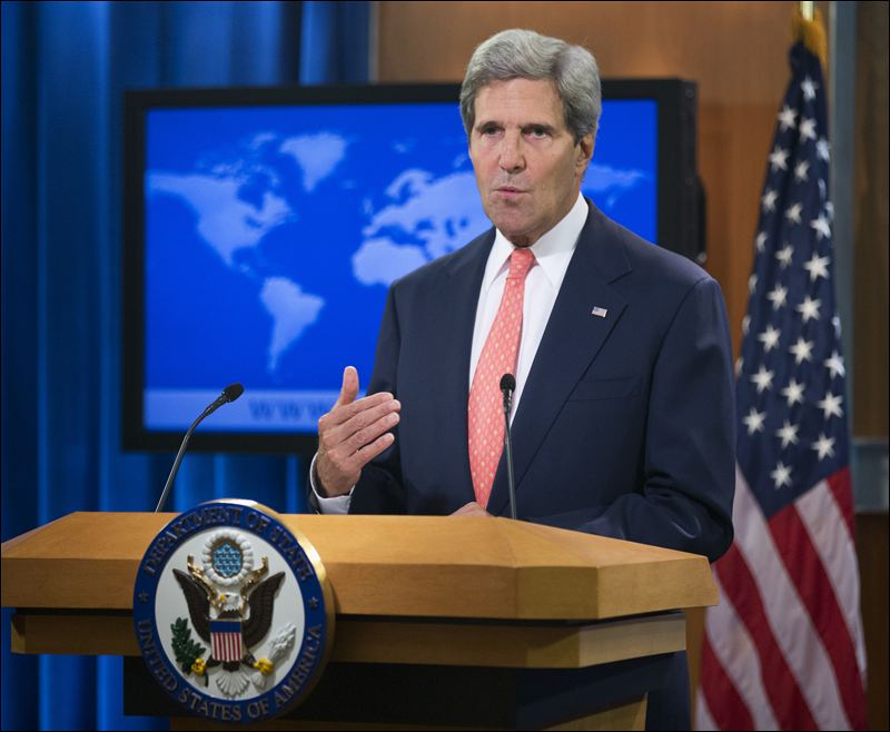 """US Secretary of State John Kerry has expressed """"deep concern"""" about the violence in Thailand"""