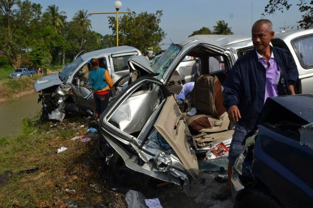 Nearly 50 people die each day in road accidents during Thailand's two most popular festivals.