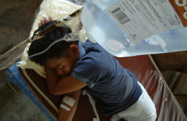 Young malaria patient in northern Thailand.