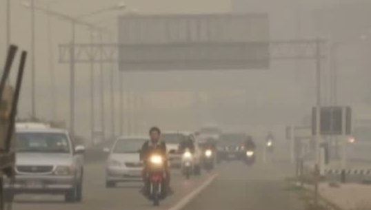 Air pollutants from smokes caused by forest fires were measured at 219 mcg/cm in Chiang Rai