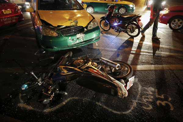 The majority (80.40%) of the accidents involved motorcycles.
