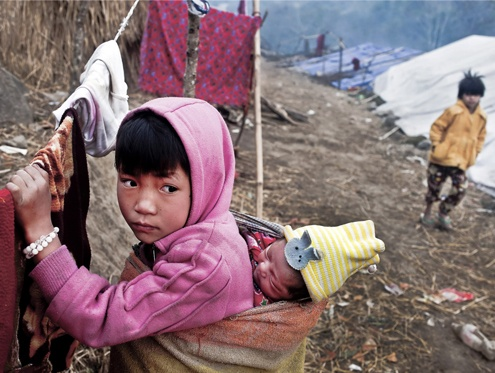 About 100,000 people have been displaced by armed conflict in northern Burma since June 2011