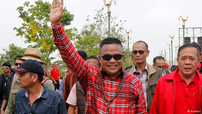 The leader of the pro-government Red Shirt demonstration, Jatuporn Prompan