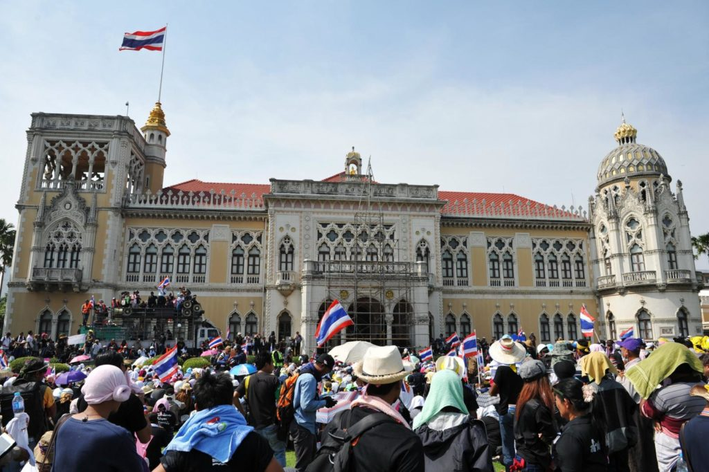 Suthep says he will not occupy the actual prime minister's office inside the compound's stately Gothic-style main building but will base himself in the adjacent Santi Maitree Building traditionally used for state visits